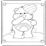 Детские раскраски - Заботливые мишки 7