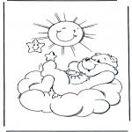 Детские раскраски - Заботливые мишки 8