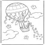 Детские раскраски - Заботливые мишки 9