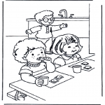 Детские раскраски - Завтракаем