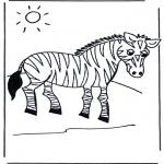 Раскраски с животными - Зебра