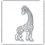 Раскраски с животными - Жираф 2