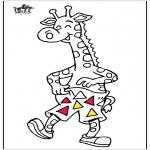 Раскраски с животными - Жираф 5