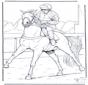 Жокей на лошади