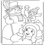 Зимние раскраски - Зимние забавы