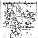 Раскраски с животными - Звери на ферме
