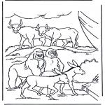 Раскраски по Библии - Звери в Ковчеге